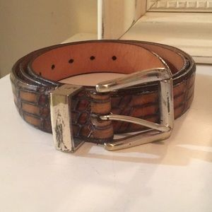 Martin Dingman Brown Calfskin Leather Belt USA 38